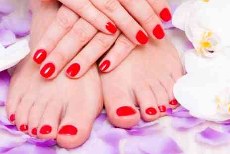 Pretty Beauty Parlour - Shellac Application on Fingernails, Toenails or Both - Save 50%