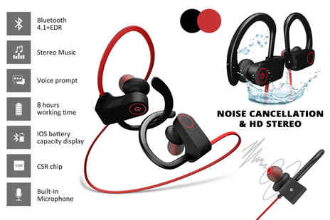 TY Direct - Pair of noise cancelling waterproof Bluetooth headphones - Save 86%