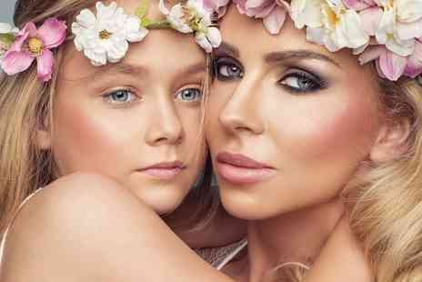 "Flawless Studios - Mother and daughter makeover photoshoot with two 7"" x 5"" prints, Prosecco, a £50 gift voucher and a box of chocolates for Mum - Save 82%"