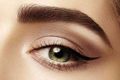 Pretty in Ink - Semi permanent eyebrow microblading treatment or semi permanent makeup application with a top up visit - Save 72%