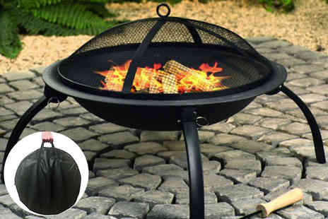 Home Empire - XL 2 in 1 portable folding firepit and BBQ - Save 36%