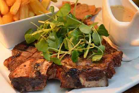 Signature Steakhouse - Steak dinner with chips and salad for two people and a glass of Prosecco each - Save 34%