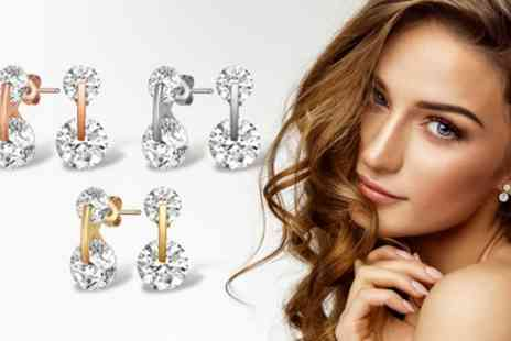 Neverland Sales - One or Two Pairs of Mestige Livie Earrings with Crystals from Swarovski With Free Delivery - Save 74%