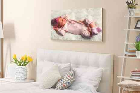 Photo Gifts - Personalised Wood Print in a Choice of Size - Save 79%
