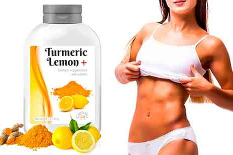Groupon Goods Global GmbH - Up to 480 Turmeric Lemon Dietary Supplement Capsules - Save 0%