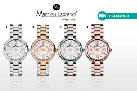 Rotatio - Ladies mathieu legrand fleur du matin swiss made watch choose from four designs - Save 84%