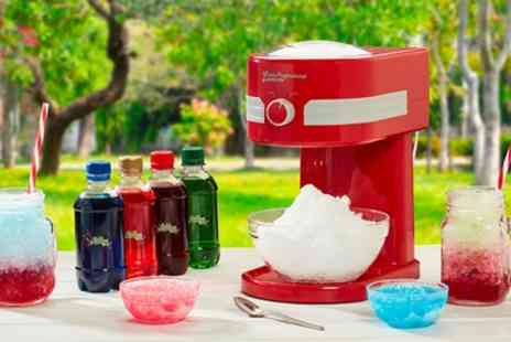 Groupon Goods Global GmbH - One or Two Cooks Professional Ice Slushy Makers with Four Optional Lickleys Syrups - Save 62%