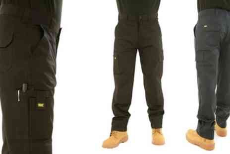 Groupon Goods Global GmbH - Mens MIG Cargo Work Trousers in Choice of Colour - Save 0%