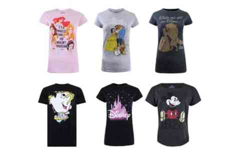 Groupon Goods Global GmbH - Womens Disney Cotton Tshirts - Save 60%