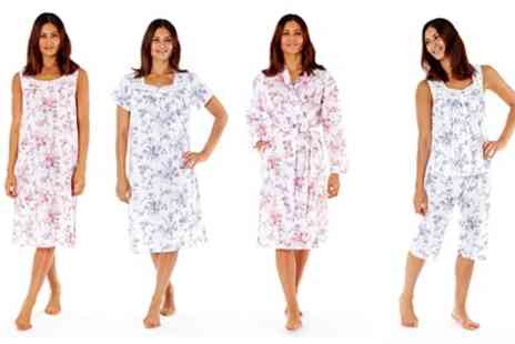 Groupon Goods Global GmbH - Two Pack of Womens Floral Nightwear in Choice of Design and Size - Save 0%