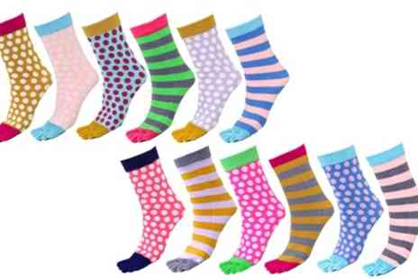 Groupon Goods Global GmbH - Four, Six or Twelve Pairs of Womens Toasty Toes Socks - Save 80%