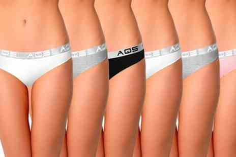 AQS Brand - Six Pack of AQS Womens Cotton Stretch Underwear With Free Delivery - Save 0%