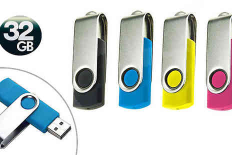 Jaoyeh - Foldable 32GB USB Drive Choose 4 Colours - Save 77%