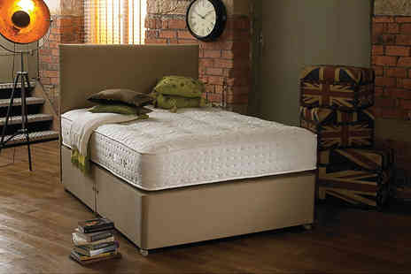 Beds 24hr - Small single or single, small double or double, king or super king size luxury divan bed with a 2000 pocket spring mattress - Save 0%