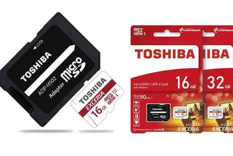 Groupon Goods Global GmbH - Toshiba Exceria M302 16GB or 32GB Micro SD Memory Card - Save 0%