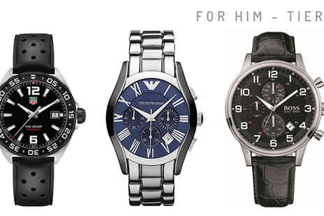 Brand Logic Europe - Mystery Designer Watch For Him or Her Hugo Boss, Ted Baker, Armani and more - Save 0%