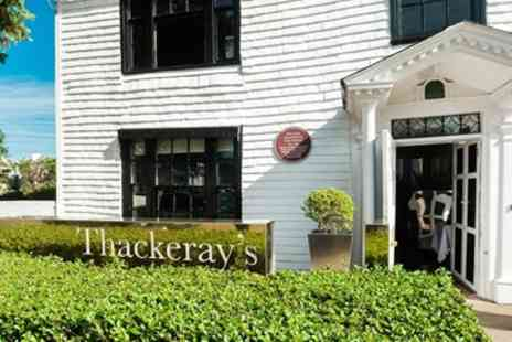 Thackerays Restaurant - Three course dinner for 2 - Save 37%