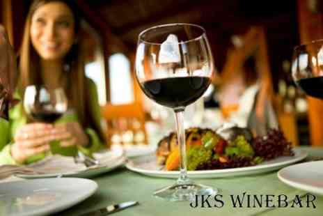 JKS Winebar - Three Course A La Carte Meal For Two With Wine - Save 63%