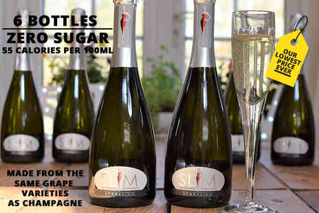 Slim Line Wine - Six bottles of zero sugar sparkling wine - Save 39%