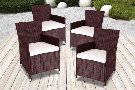 Dining Tables - Rattan garden chair, £59 for two or four chairs - Save 64%