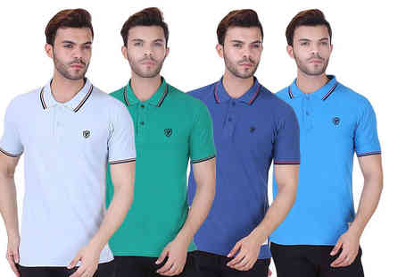 Bluebell Retail - Mens realm tipped polo shirt choose from seven colours - Save 0%