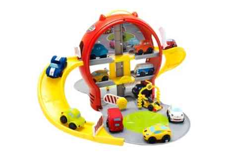 Groupon Goods Global GmbH - Motor Town Three Level Garage Play Set with Six Cars - Save 0%