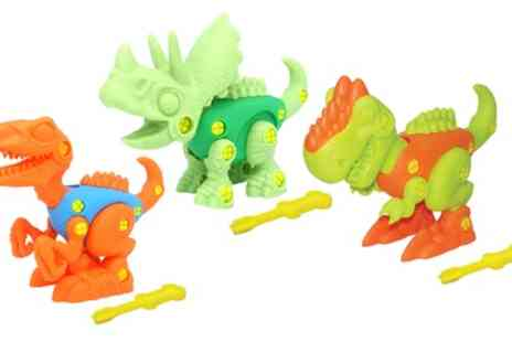 Groupon Goods Global GmbH - Dragon-i Build Dino Playset Three Pack - Save 0%
