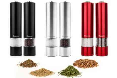 Groupon Goods Global GmbH - Savisto Electronic Illuminated Salt and Pepper Mill Grinders in Choice of Colour - Save 39%