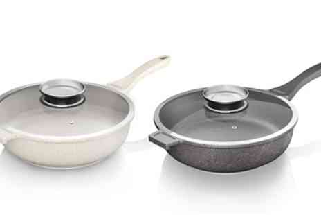 Groupon Goods Global GmbH - Tower Cerastone Die Cast Saute Pan with Easy Clean Non Stick Ceramic Coating - Save 79%