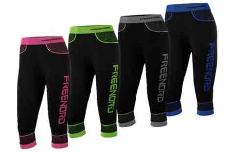 Groupon Goods Global GmbH - One or Two Pairs of FreeNord Seamless Womens Leggings - Save 0%
