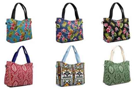 Groupon Goods Global GmbH - Womens Summer Canvas Tote Bag - Save 70%