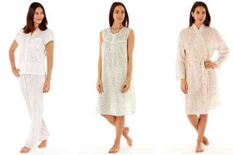 Groupon Goods Global GmbH - Two Pack of Floral Nightdresses, Pyjamas or Dressing Gowns - Save 0%