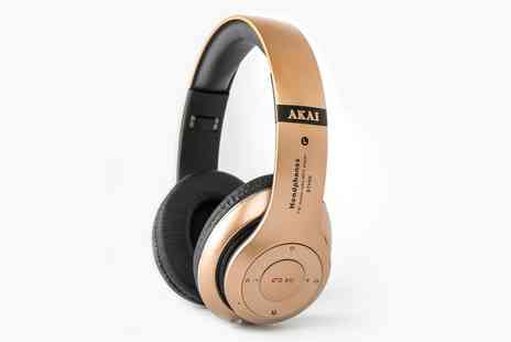Groupon Goods Global GmbH - One or Two Pairs of Akai BTH05 Bluetooth Headphones - Save 0%