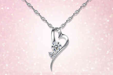 Your Ideal Gift - Heart pendant necklace made with crystals from Swarovski - Save 83%