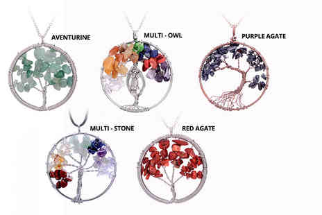 Yepko - Tree of life pendant choose from five designs - Save 68%