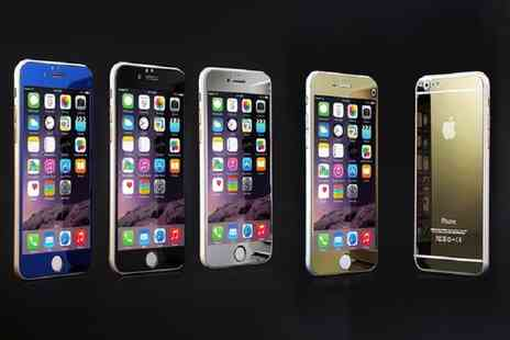 Ckent - iPhone tempered screen guard & mirrored case for 5 through to 6 Plus - Save 75%