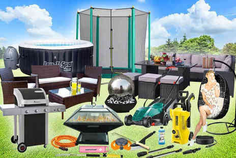 HCI Distribution - Summer mystery deal From rattan corner sofa set, garden sprinkler, Lay Z Spa hot tub, Gas BBQ and more - Save 0%
