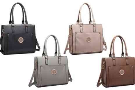 Groupon Goods Global GmbH - Miss Lulu Women's Front Pocket Shoulder Handbag in Choice of Colour - Save 58%