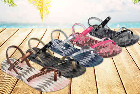 Ipanema - Pair of Ipanema Diamond V womens flip flops choose from six colours - Save 44%