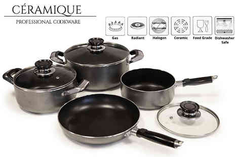 Direct 2 Public - Seven piece aluminium non stick cookware set - Save 69%
