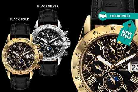 Rotatio - Andre Belfort le capitaine leather watches choose from five designs - Save 89%