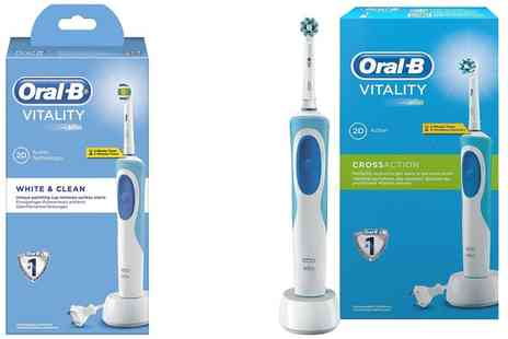 Groupon Goods Global GmbH - Oral B Vitality Plus Electric Toothbrush with Optional Shaver Plug - Save 0%