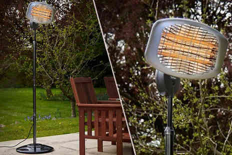 Groundlevel - Freestanding Electric Patio Heater in 650W, 1350W and 2000W - Save 60%