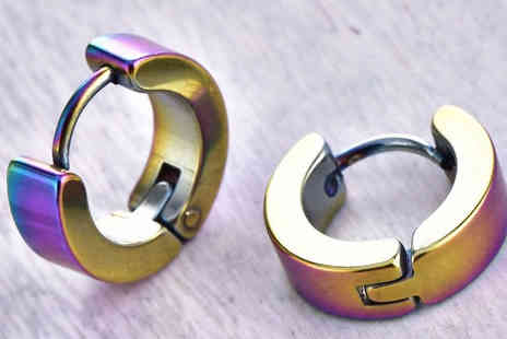 YEPKO - Rainbow Hug Hoop Earrings - Save 55%