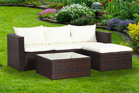 Esenti - Malaga rattan outdoor sofa set select from two colours - Save 68%