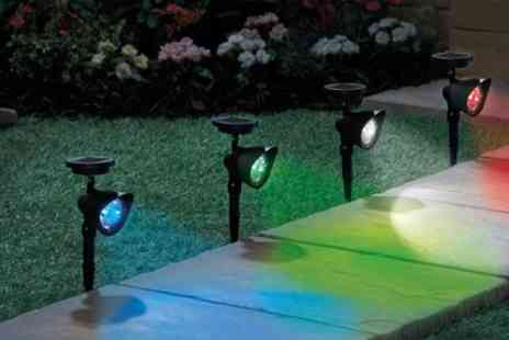 Groupon Goods Global GmbH - Two or Four Colour Changing Spotlights with Remote Control - Save 74%