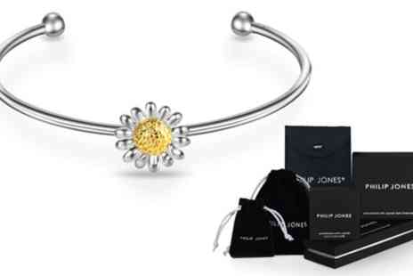 Groupon Goods Global GmbH - Philip Jones One or Two Daisy Cuff Bangles - Save 85%