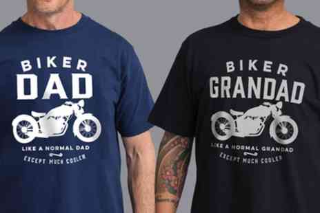 Groupon Goods Global GmbH - Shot Dead In The Head Mens Biker Family Tshirt - Save 53%
