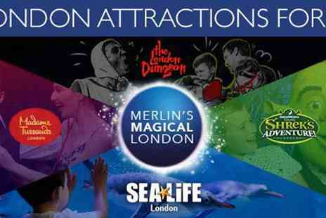 Encore Tickets - Merlins Magical London of Shreks Adventure, Madame Tussauds, SEALIFE Aquarium, The London Dungeon & The London Eye - Save 0%
