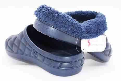 Jaoyeh - Faux Fur Lined Quilted Print Slippers Choose 6 Colours - Save 50%